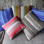 selection of hand woven cushions from ECHO weavers