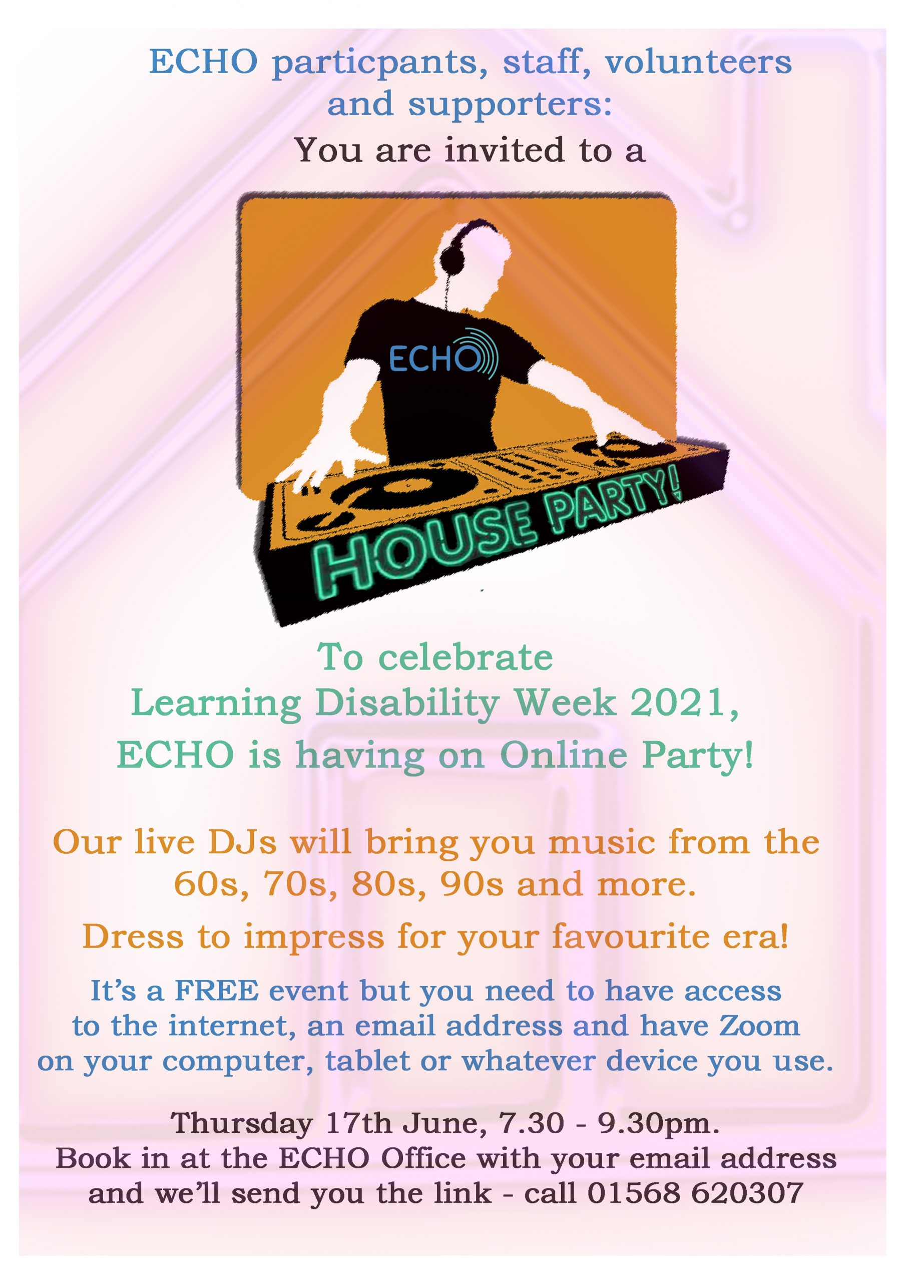 invitation to the ECHO house party