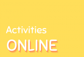 Bright yellow background and text reads Activities Online